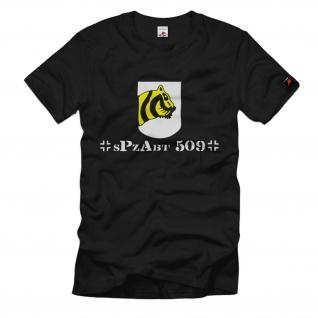 Schwere Panzer Abteilung Tiger 509 sPzAbt Heer Wappen Tiger Front T Shirt #1324