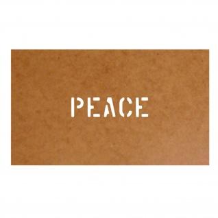 Peace Militär Us Army Frieden Stencil Ölkarton Lackierschablone 2, 5x11cm #15254