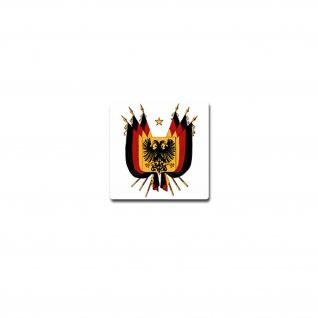 Wappen Aufkleber Sticker Kaiserreich Deutschland Fahne Emblem 7x7cm #A3658