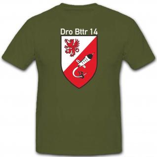 Dro Bttr 14 Drohnenbatterien Bundeswehr Militär Einheit Wappen T Shirt #2756