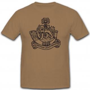 RLI Rhodesian Light Infantry Wappen Abzeichen Emblem Rhodesische - T Shirt #5768