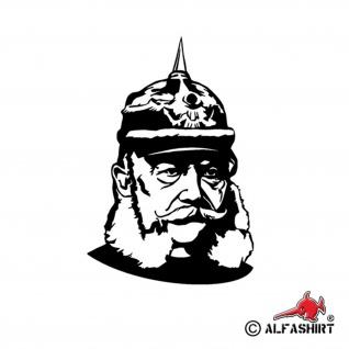 Aufkleber/Sticker Kaiser Wilhelm der 1. Preußen Kopf Porträt 15x10cm #A552