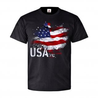 USA Fahne Amerika Stars Stripes US Army Sternenbanner Patriot T Shirt #26820