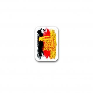 Aufkleber/Sticker Deutschland schwarz rot gold Adler Bundesrepublik 5x7cm A3091
