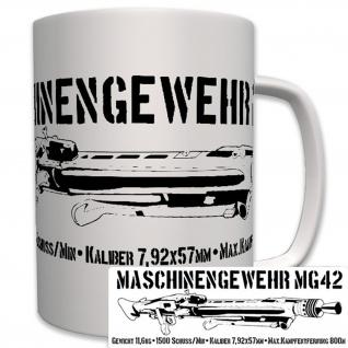 MG42 mit Daten Maschinengewehr 42 Wk Deutschland Waffe- Tasse #7646