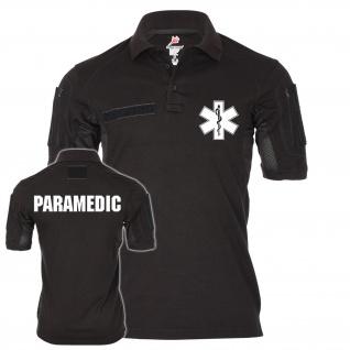 Tactical Poloshirt Alfa PARAMEDIC Star-of-Life Medical Service Medic Sani #20444