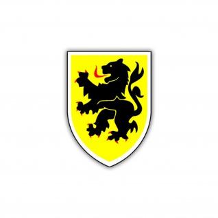 Aufkleber/Sticker 10 PzDiv BW Panzer Division Wappen Abzeichen 6x7cm #A1022