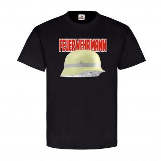 Feuerwehrmann Deutscher Feuerwache Fire Feuer Pyro Fireworker 112 T Shirt #20632