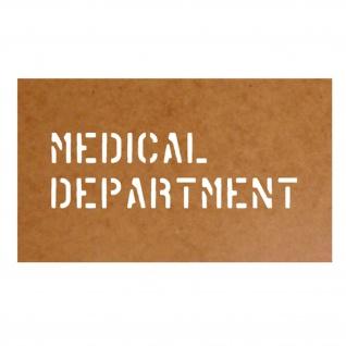 Medical Department Schablone Ölkarton Lackierschablone 5, 2x20cm #15214