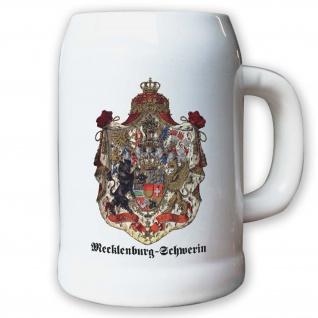 Krug / Bierkrug 0, 5l - Mecklenburg-Schwerin Weimarer Republik Landeswappen #9475