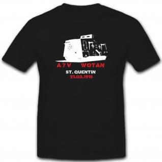 WK Panzerung Militär Heer Stpzkrw A7v Dmg Fronteinsatz T Shirt #1846