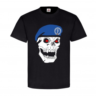 Deutscher Sanitätssoldat Skull Totenkopf Bundeswehr Bw Barett - T Shirt #8428
