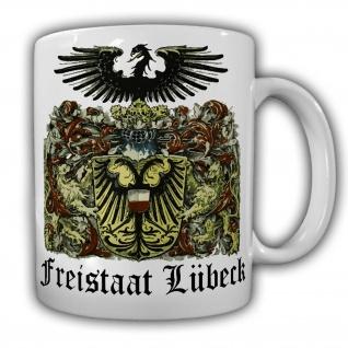 Tasse Freistaat Lübeck Hansestadt Wappen Abzeichen Heimat Kaffee Becher #20753