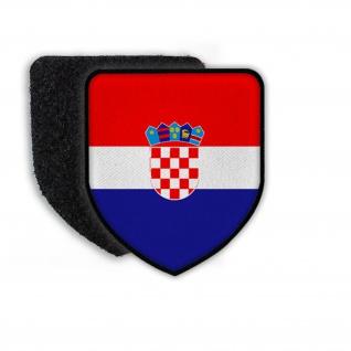 Patch Landespatch Kroatien Zagreb Wappen Flagge Landeszeichen Plenkovic#21942