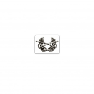 Aufkleber/Sticker Mützenkranz Abzeichen BW Einheit Militär Uniform 9x7cm A3208