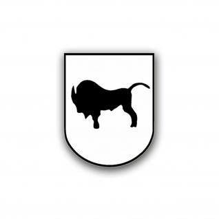 Aufkleber/Sticker PzBtl 363 Panzerbataillon Wappen Abzeichen Büffel 7x6cm A742