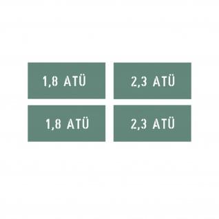 Lackierschablonen Aufkleber Reifendruck 1, 9+2, 3 Atü Beschriftung 6x2m A1550