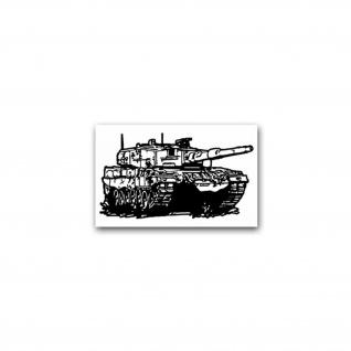 Aufkleber/Sticker Leopard 2A4 Panzer Kampfpanzer Deutschland BW 11x7cm A2657