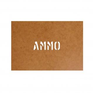 Ammo Box Schablone Ölkarton Lackierschablone 2, 5x10cm # 15179