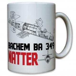 Bachem BA 349 Natter Luftwaffe Flugzeug Rakete Senkrechtstart - Tasse #9211 t