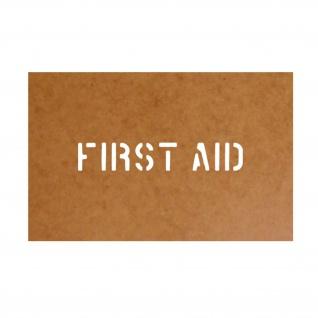 First Aid Schablone Bundeswehr Ölkarton Lackierschablone 2, 5x14, 5cm #15136