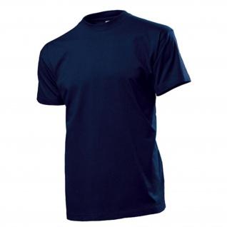 T-Shirt dunkelblau Herren Rundhals 100% Ringspinn-Baumwolle 185 g-m² #12818