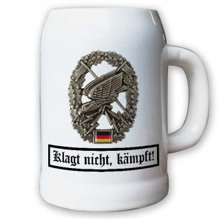 Klagt nicht Kämpft Schlachtruf Motto Fernspäher - Krug / Bierkrug 0, 5l #10652