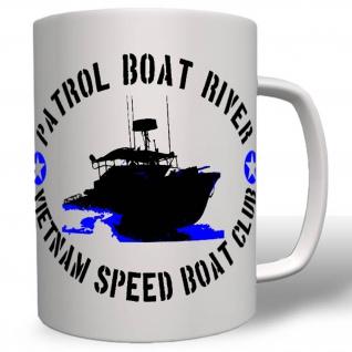 Patrol Boat River Vietnam Speed Boat Club Us Army Nam Vietcong Pbr Tasse #16755