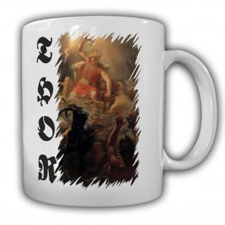 Thor Mjölnir Kampf gegen Riesen Nordischer Glaube Mythologie - Tasse #16904