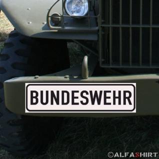 Magnetschild Bundeswehr BW Bund für KFZ Fahrzeuge Kübel Iltis Wolf etc #A160
