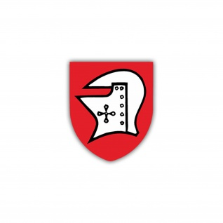 Aufkleber/Sticker 4. PzBtl 54 Panzerbataillon Wappen Abzeichen 7x6cm A1150