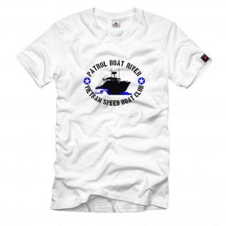 Patrol Boat River Vietnam Speed Boat Club T Shirt #534