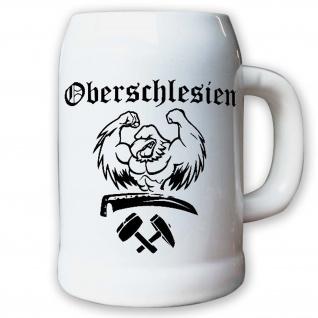 Oberschlesien Adler Heimat Schlesien Deutschland Polen Krug Bierkrug 0, 5l #9597