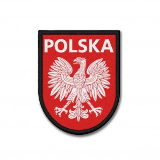 Patch Volksrepublik Polen PRL Wappen Republik Abzeichen Klett Aufnäher #37549
