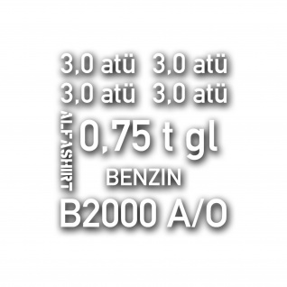 Aufkleber Set für Borgward B2000 Kübel Reifendruck 3 atü 0, 75t 16x17cm #A4763