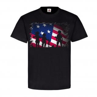 US G I Army Soldaten Militär Flagge Fahne Sterne Einheit T Shirt #23300