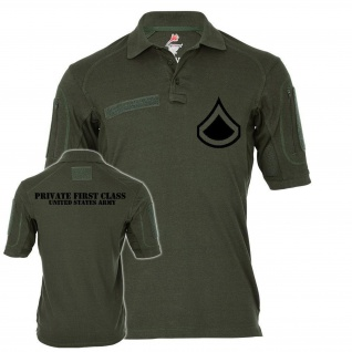 Tactical Poloshirt Alfa - Private First Class United States Dienstgrad #19045
