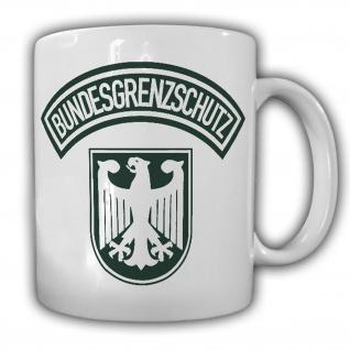 Tasse Bundesgrenzschutz BGS Polizei Wappen Abzeichen Adler Genscher Bogen #23680