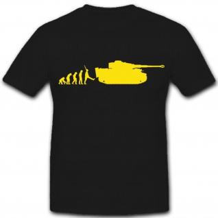 Evolution Tiger Panzer Evo Affe Mensch Steinzeit- T Shirt #7966