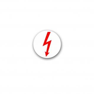 Aufkleber/Sticker Elektro Blitz Strom Hochspannung Elektriker Spaß 7x7cm A3102