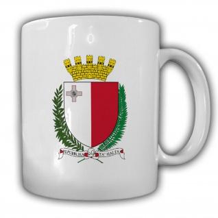 Malta Wappen Emblem Republik Malta Mittelmeer Inselstaat Becher Tasse #13741