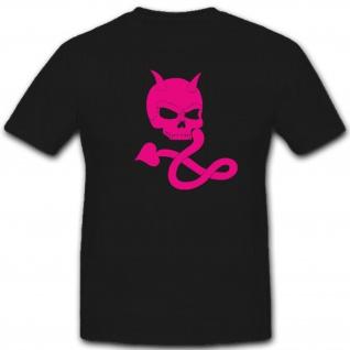 Skull Totenkopf Schädel Teufel Schwänzchen Evil Fun Humor Spaß - T Shirt #2167