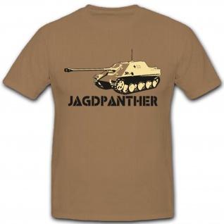 Jagdpanther Wk Wh Panzer Militär Geschütz Bundeswehr Modell - T Shirt #3296