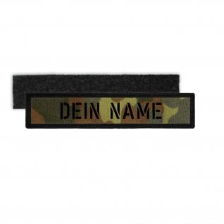 Patch Bundeswehr Namens-Klett-Schild Flecktarn Schablonen Schrift BW #32068