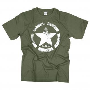 VINTAGE ARMY STAR US USA Amerika Willys WW2 allied INFIDEL T Shirt #18795