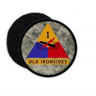 Patch Aufnäher mit Klett OLD Ironsides Digitaltarn Militär Armee Amerika #23519