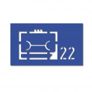 Lackierschablonen Aufkleber LogRgt 22 Logistikregiment 10x5cm #A4576