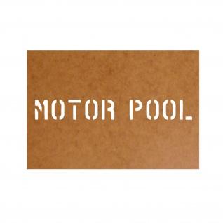 Motor Pool Schablone Ölkarton Lackierschablone 2, 5x20cm #15189