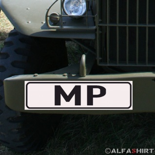 Magnetschild Military Police MP für KFZ Fahrzeuge #A172