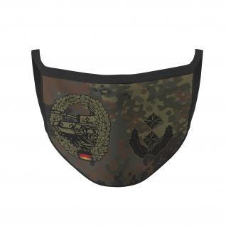 Mundmaske Panzer Oberstleutnant Flecktarn B Bundeswehr Tarnmuster #36044